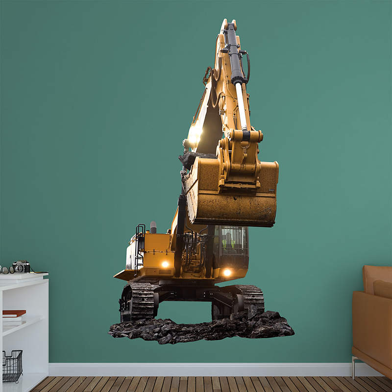 CAT Excavator wall decal